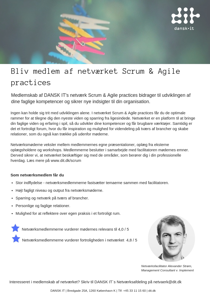Forside Scrum and Agile practices 2019